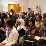 Audience members at the launch of the CGIAR Research Program on Fish (FISH). World Aquaculture 2017, Cape Town, South Africa. Photo by Idriss Ali Nassah.