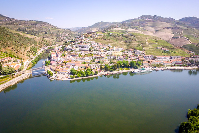The Douro Valley Aerial View From The Vintage House