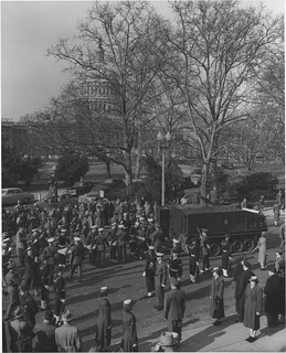 Photograph of Loading Armored Personnel Carrier with the Documents at the Library of Congress
