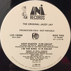 THE ORIGINAL JAZZY JAY:BACK TO THE LAB(LABEL SIDE-B)