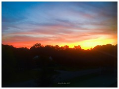 Tonight's colors. Well done, Mother Nature, well done... ?