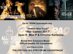 Official page of the All Eyes on Me movie soundtrack brought to you by Moe P Music and Films. Visit http://www.2pacmusic.org/ to listen today!!🎶🎶🎶 #AllEyesOnMeSoundtrack #WarGames2017 #2Pac #ChromeKorleone #MoePMusicandFilms #Biopic #Tup