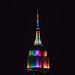 The Empire State Building celebrates #PrideWeek with its lights in rainbow colors. by apardavila