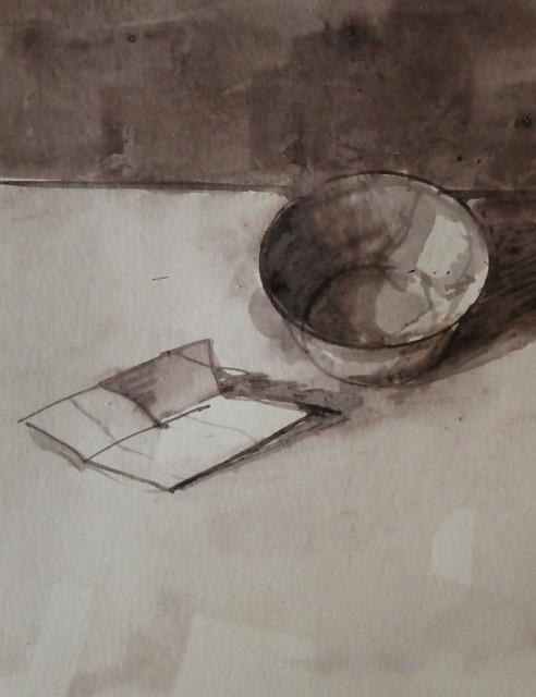 Oak Gall Ink Drawing