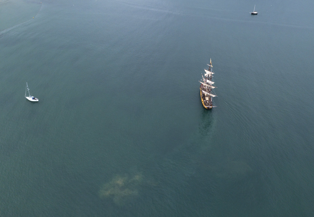 Shtandart in Swanage Bay - Click to show full size