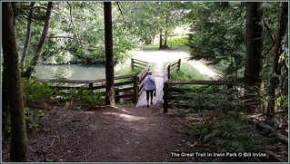 The Great Trail in Irwin Park bridge