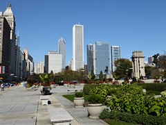 Chicago, Skyline from Just South of Congress Plaza