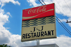 J & J Restaurant - Coca-Cola sign - Manchester, Tennessee