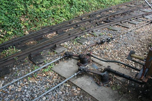 Point rodding at Amberley station