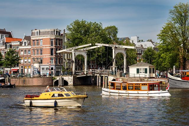 Bascule bridge in Amsterdam