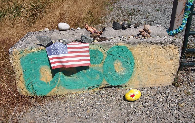 Oso Landslide Monument: People still leave offerings here.