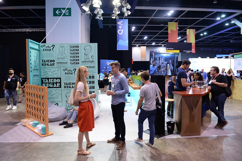 Cod6608 hong kong picture hong kong informer 11 july 2017 attendees in the blueprint swire properties ltd booth during the opening day of rise 2017 in hong kong photo by cody glenn rise malvernweather Gallery