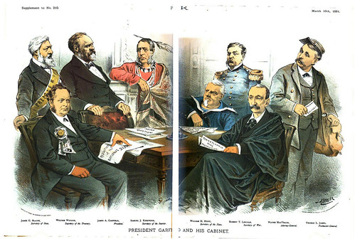 president garfield and his cabinet (1881)