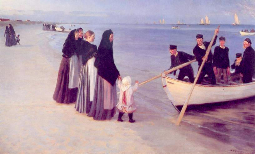 Fishermen at Skagen by Peder Severin Kroyer, 1894