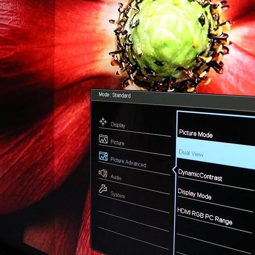 Dual View を設定することで、画面の色設定を左右で変えて、比較することができる。