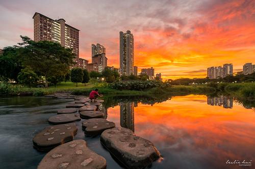 garden epicsunset singapore cityscape sunset fierysky bishan city
