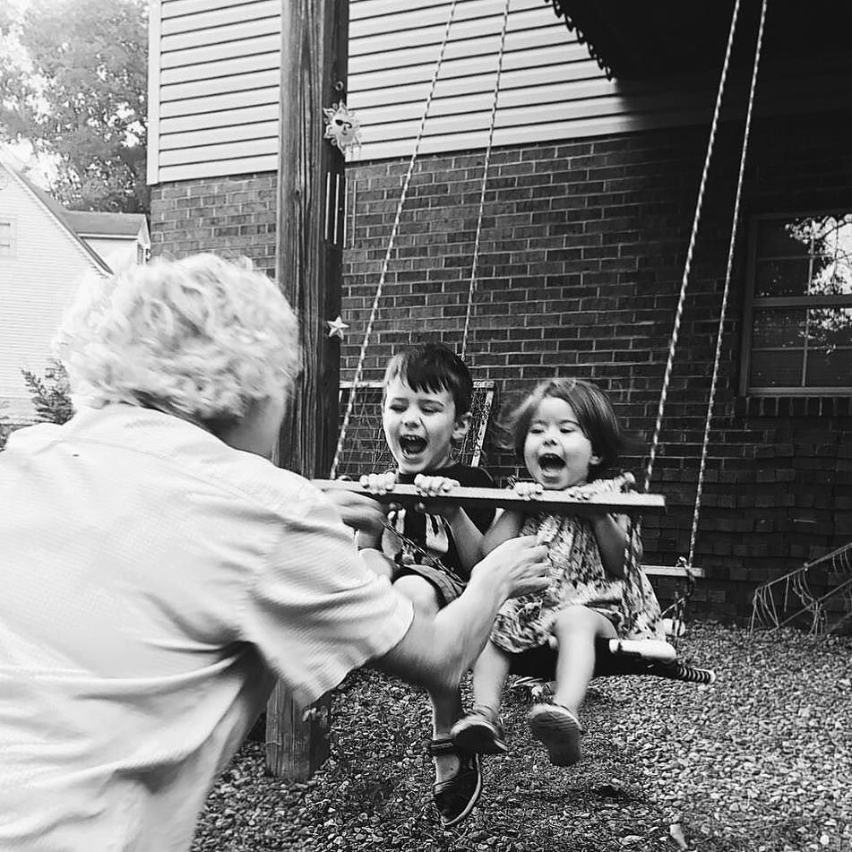 Pure joy. #grandmother #grandmotherhood #grandkids #grandparentshouse #children