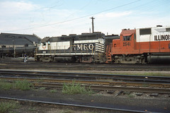 GM&O GP35 #608 in the Bloomington yard