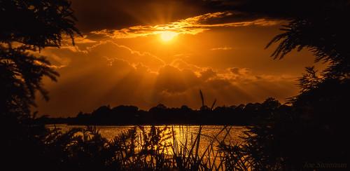 inspiration divine divineinspiration sky dramatic clouds sunset sun rays lightrays nature landscape beauty naturesbeauty cloudscape skyscape golden lake
