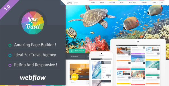 Love Travel v1.0 – Travel Agency For Travel And Tour Webflow