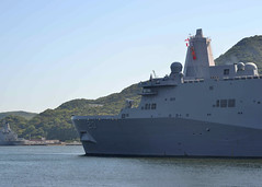 USS Green Bay (LPD 20) departs Fleet Activities Sasebo, June 2. (U.S. Navy/MC2 Jordan Crouch)