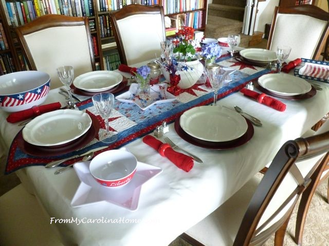 July Tablescape at From My Carolina Home