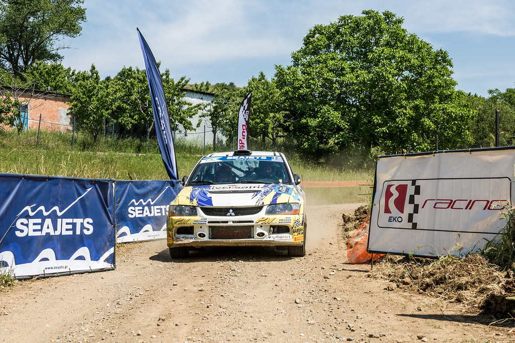 12 MELEGARI Zelindo (ita) and BARONE Maurizio (ita) action during the European Rally Championship 2017 - Acropolis Rally Of Grece - From June 2 to 4 - Photo Thomas Fenetre / DPPI