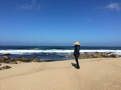 Susan on the beach