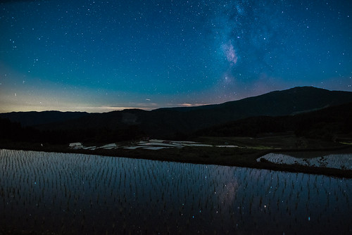 japan 但馬 氷ノ山 山 mountain 星景 starscape 棚田 田園 field 養父市 兵庫県