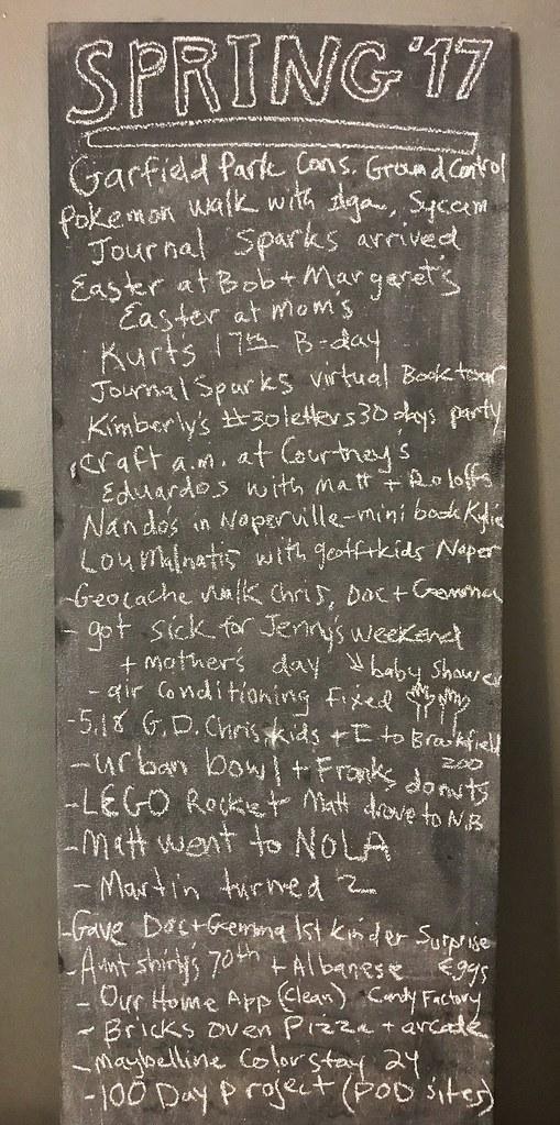 Spring 2017 Chalkboard