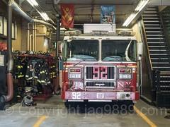 FDNY Engine 92 Fire Truck, Morrisania, Bronx, New York City