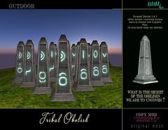 LD Tribal Glyphs Obelisk
