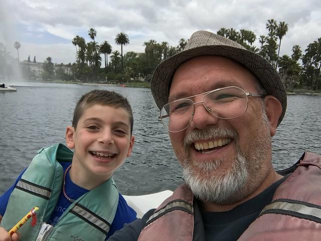 Echo Park Lake Selfie
