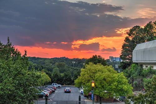 hdr uncc unc charlotte sunset