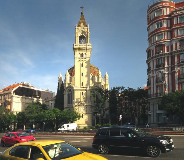 Church, Calle Alcalá, POV Parque Retiro, Madrid