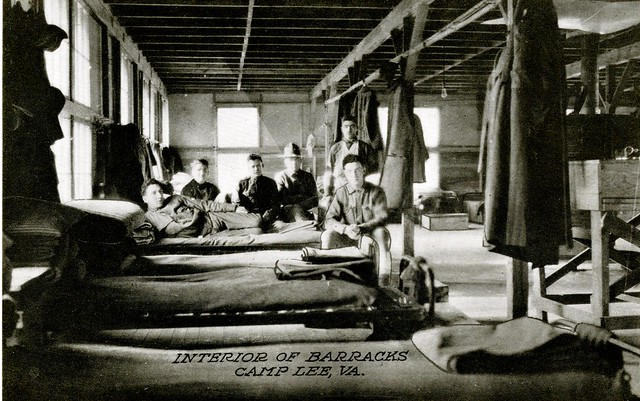Interior of Barracks, Camp Lee, Va.
