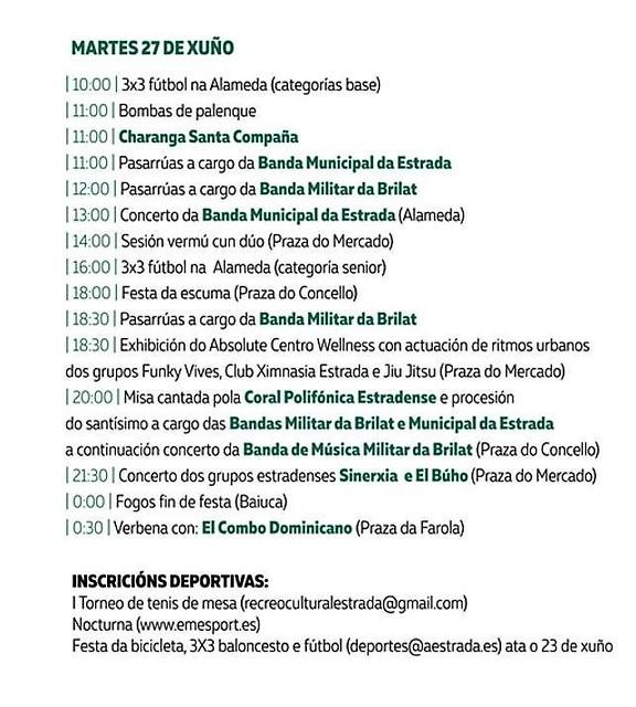 A Estrada 2017 - Festas patronais de San Paio - programa 4