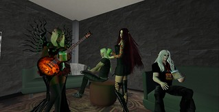 In the Green Room at Live Stage at SL14B | by Prettyflower Vale