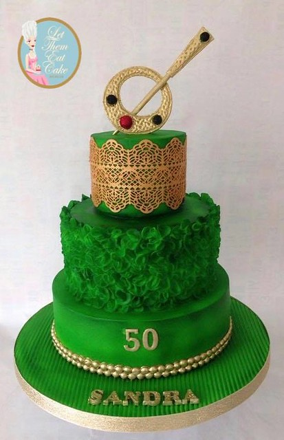 Celtic Style Three Tier Cake with Tara Brooch by Let Them Eat Cake Dublin