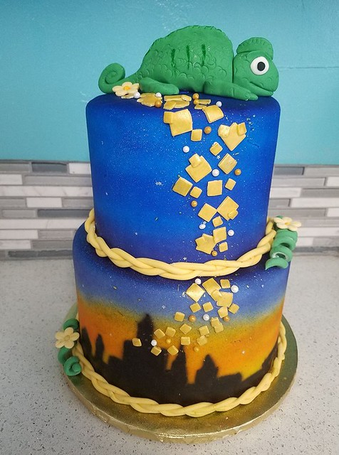Tangled Inspired Cake by Tresha Rob Capps of Pink Princess Cakes