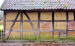 Lübeln Wendland; Fachung mit Lehm und Ziegeksteinen