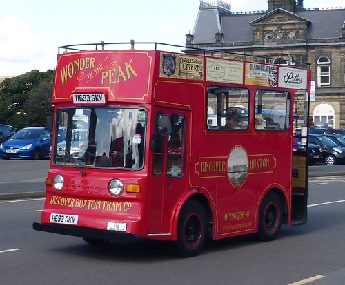 H693 GKV 'Discover Buxton Tram Co' Morrison Electricar /1 on 'Dennis Basford's railsroadsrunways.blogspot.co.uk'