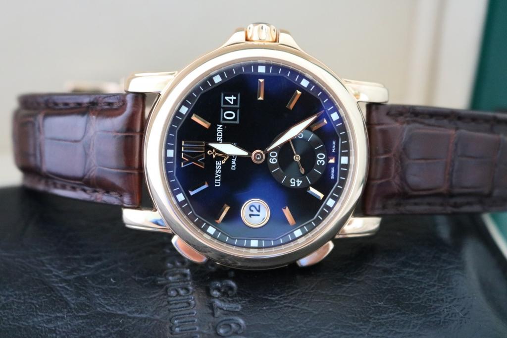 Đồng hồ Ulysse Nardin – Dual time – vàng hồng 18k – size 42mm
