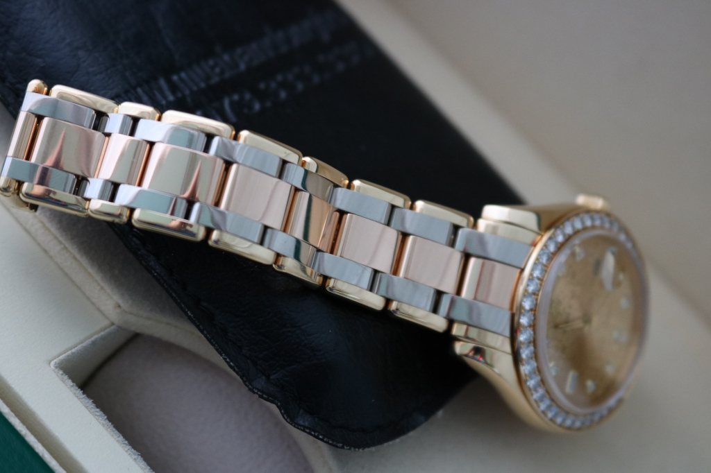 Đồng hồ rolex day date Tridor Peamaster – model 18948 – Vàng 3 màu – Mặt Vi Tính – Đầy đủ giấy tờ