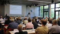 Prof. Dr. Gabriel Felbermayr (ifo-Zentrum f�r Au�enbeziehungen) spricht im Auditorium der Akademie