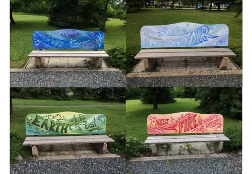 Dryden 4 benches