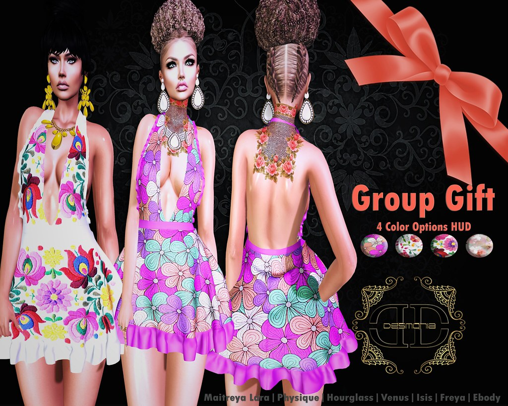 Chevon Dress Group Gift - SecondLifeHub.com