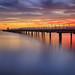 Petone Pier Sunset by Jos Buurmans