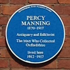 Photo of Percy Manning blue plaque