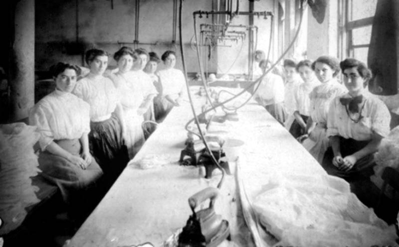 Garment workers wearing shirtwaists